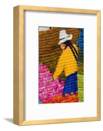 Traditional Wool Rug, Otavalo Handicraft Market, Quito, Ecuador