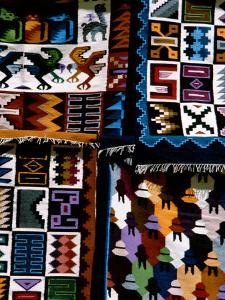 Traditional Wool Textile Blankets for Sale, Pisac Market, Peru by Cindy Miller Hopkins