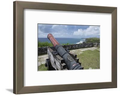 Us Territory of Guam, Umatac. Fort Soledad. Cannon and Philippine Sea