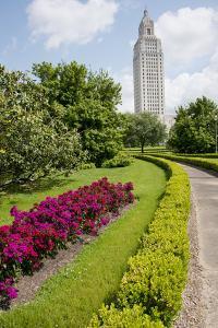 USA, Louisiana, Baton Rouge. Louisiana State Capitol building. by Cindy Miller Hopkins