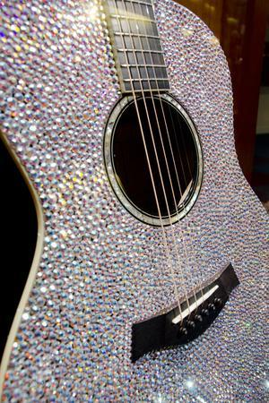 USA, Tennessee, Nashville. Taylor Swift's bejeweled rhinestone guitar.