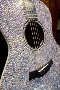 USA, Tennessee, Nashville. Taylor Swift's bejeweled rhinestone guitar. by Cindy Miller Hopkins