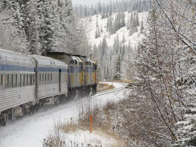Via Rail Snow Train Between Edmonton & Jasper, Alberta, Canada