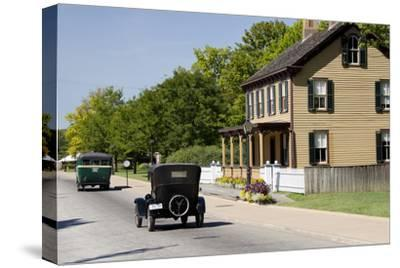 Vintage Cars in Front of Historic Home, Dearborn, Michigan, USA