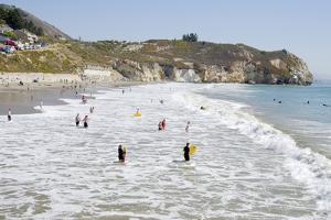 Visitors Enjoying the Ocean, Avila Beach, California, USA by Cindy Miller Hopkins