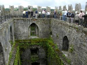 Waiting in Line To Kiss The Blarney Stone, Blarney Castle, Ireland by Cindy Miller Hopkins