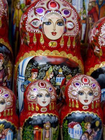 Wooden Matryoshka Nesting Dolls, Moscow, Russia