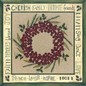 Berry Wreath Iv by Cindy Shamp