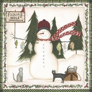 Fishing Hole Snowman by Cindy Shamp