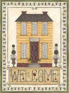 Yellow House Welcome by Cindy Shamp