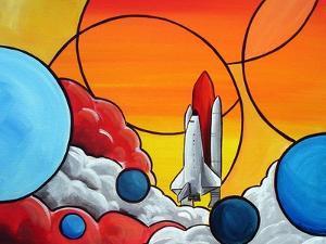 Shuttle Liftoff by Cindy Thornton