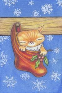 Christmas-Stocking-Kitty by Cindy Wider