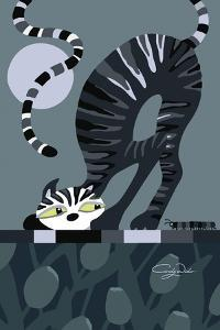 Moonlight Cat by Cindy Wider