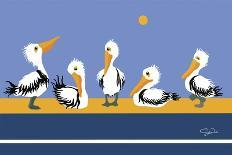 Pelican Parade-Cindy Wider-Giclee Print