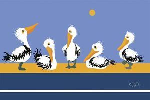 Pelican Parade by Cindy Wider