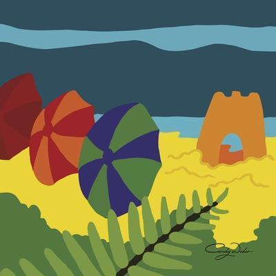 Sand Castles And Beach Umbrellas