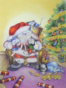 Santa-Cuddles by Cindy Wider
