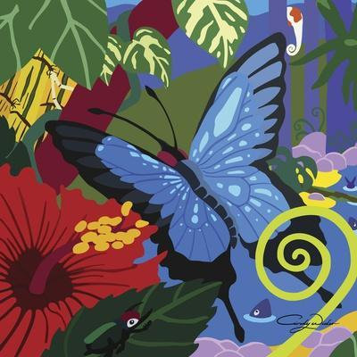 Tropical Blue Butterfly V3