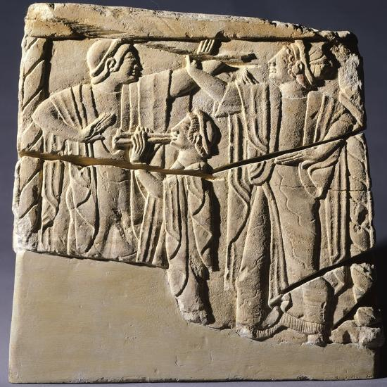 Cinerary Urn with Dancers and Performers, Artifact from Chiusi--Photographic Print