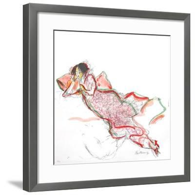 Cinq IIthographies V-Serge Kantorowicz-Framed Limited Edition