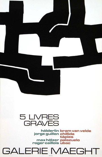 Cinq Livres Graves, 1974-Eduardo Chillida-Collectable Print