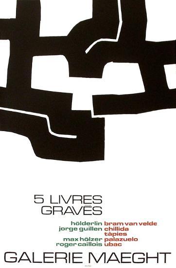 Cinq Livres Graves-Eduardo Chillida-Collectable Print