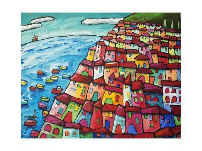 Cinque Terre, Amalfi Coast - Italy-Sara Catena-Giclee Print
