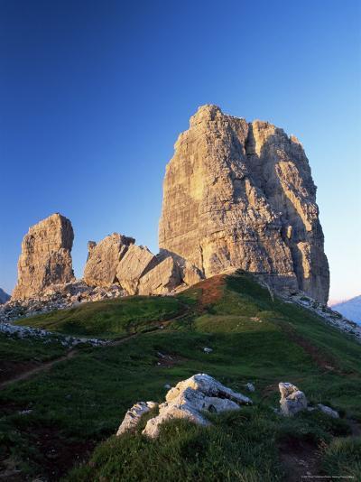 Cinque Torri at Sunset, Near Cortina d'Ampezzo, Dolomites, Veneto, Italy-Ruth Tomlinson-Photographic Print