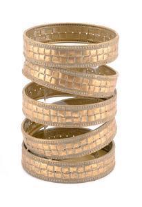 Cinta Candle Holder Md Antique Gold