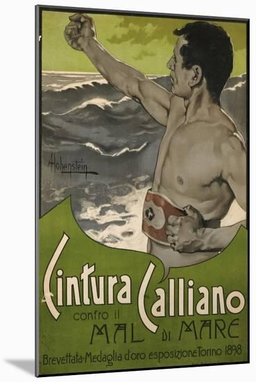 Cintura Calliano, 1898-Adolfo Hohenstein-Mounted Premium Giclee Print