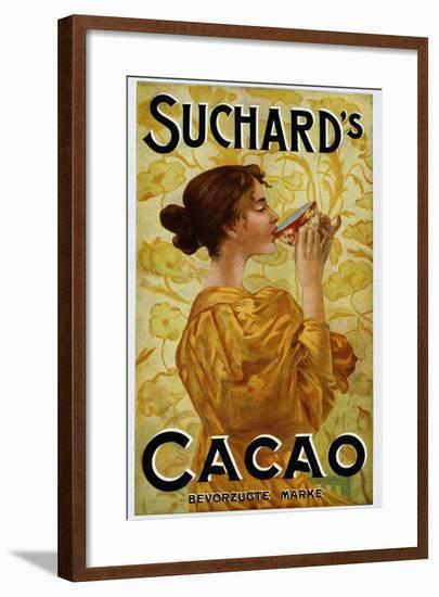 Circa 1905 Belgian Poster for Suchard's Cacao-swim ink 2 llc-Framed Photographic Print