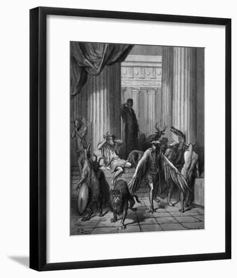 Circa Turning Men into Beasts-Gustave Doré-Framed Giclee Print