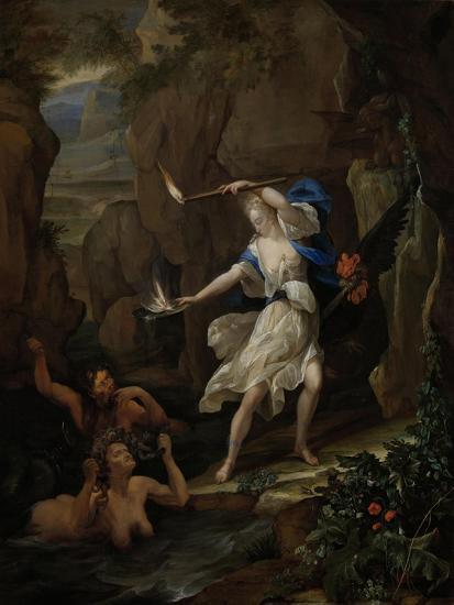 Circe Punishes Glaucus by Turning Scylla into a Monster-Eglon van der Neer-Art Print
