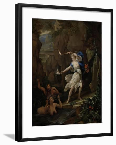 Circe Punishes Glaucus by Turning Scylla into a Monster-Eglon van der Neer-Framed Art Print