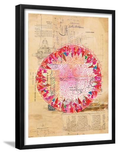 Circle Collage-Paula Mills-Framed Art Print