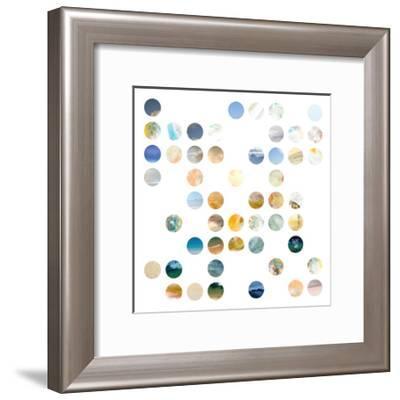 Circle Grid A-THE Studio-Framed Premium Giclee Print