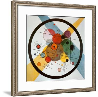 Circle in a Circle-Wassily Kandinsky-Framed Art Print