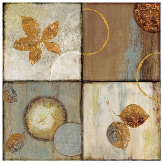 Circle Leaf Patterns II-Jenny Siekmann-Art Print