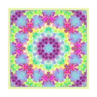 Circle Of Blossom Mandala-Alaya Gadeh-Art Print
