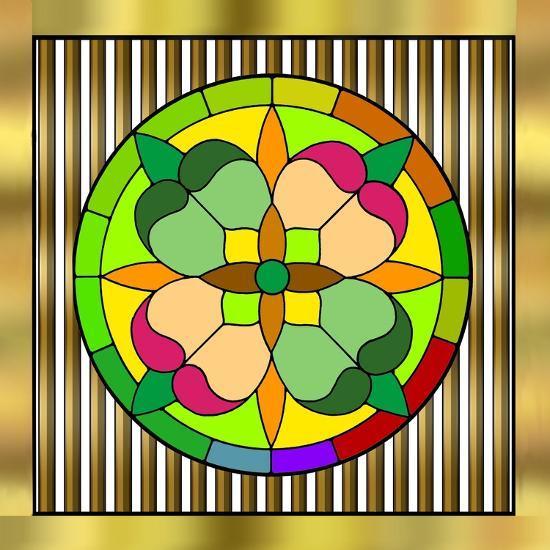 Circle on Bars 2-Art Deco Designs-Giclee Print