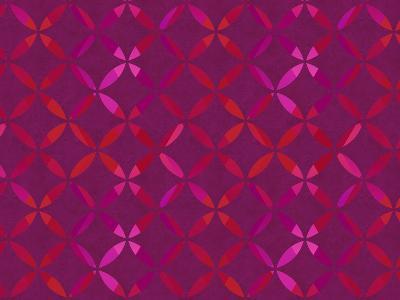Circle Red Pattern-Lebens Art-Art Print