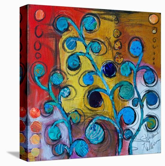 Circle Trees B--Stretched Canvas Print