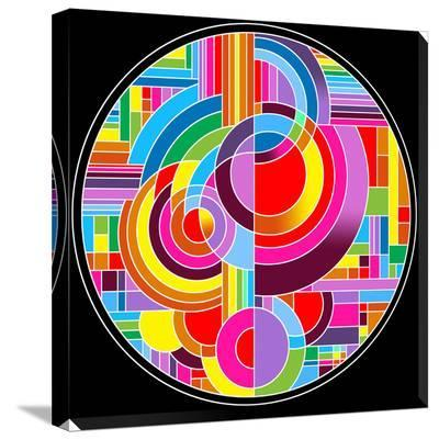 Circles 1-Howie Green-Stretched Canvas Print