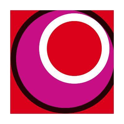 Circles and Colors (Red), 2013-Carl Abbott-Serigraph