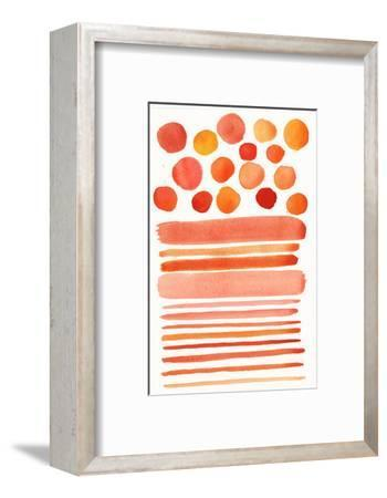 Circles and Stripes in Shades of Orange and Pink