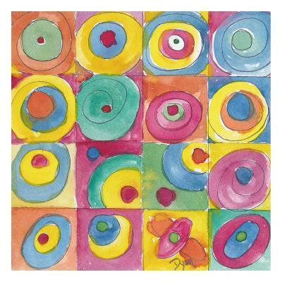 Circles Bright-Beverly Dyer-Art Print
