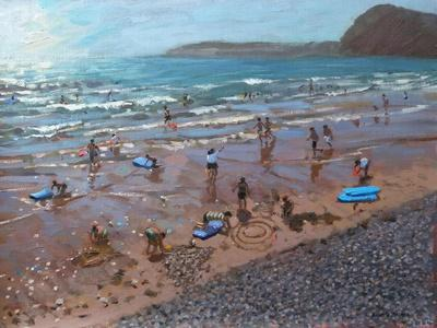 Circles in the Sand, Sidmouth, 2007-Andrew Macara-Giclee Print