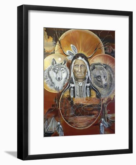 Circles of life-Sue Clyne-Framed Giclee Print