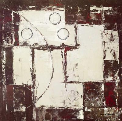 Circles on Brown and Beige I-David Sedalia-Art Print