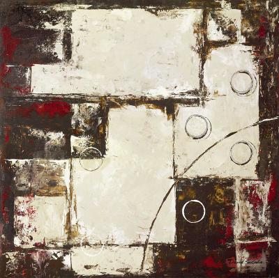 Circles on Brown and Beige II-David Sedalia-Art Print